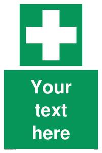 Custom First Aid Sign