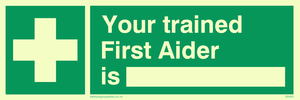 your trained first aider is