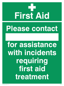 First Aid please contact