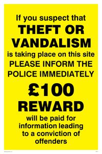 Theft vandalism inform police