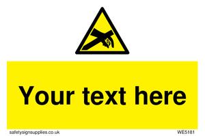 Custom Anti-Static Warning Sign