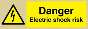 danger electric shock risk