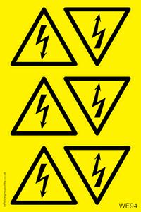 Electrical Warning Sheet
