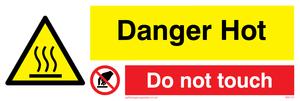 danger hot do not touch