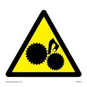 Warning Trapped hand Symbol