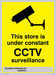 Store under constant CCTV