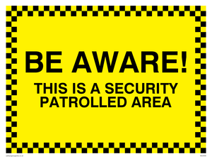 Security patrolled area