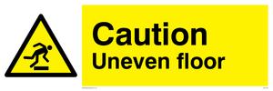 caution uneven floor