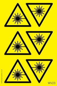 Laser Hazard Warning Sheet