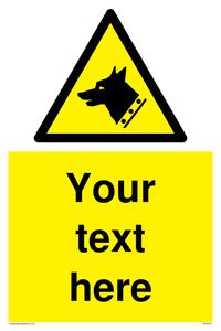 custom guard dog warning sign