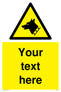 custom guard dog warning sign