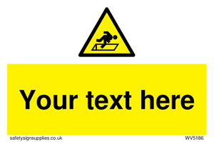 Custom Warning Hatch Sign