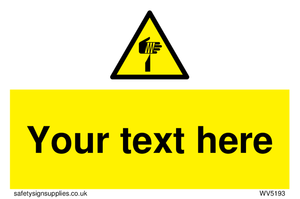 Custom Sharp Warning Sign