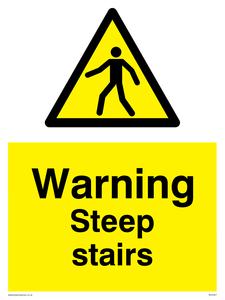 Warning Steep stairs