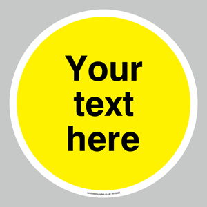 Custom blank warning (yellow) sign
