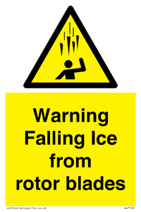 Warning Falling Ice from rotor blades