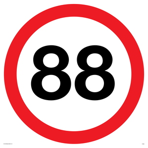 88 MPH back to the future sign
