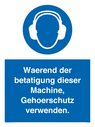 <p>Ear protection must be worn when operating this machine</p> Text: