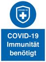 <p>COVID-19 Immunität benötigt</p> Text: