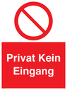 <p>Private No Entry</p> Text: