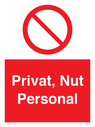 <p>Private, Staff only</p> Text: