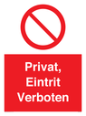 <p>Private, No public access</p> Text: