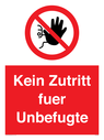 <p>No unauthorised persons allowed beyond this point</p> Text: