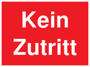 <p>German No entry</p> Text: