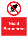 <p>Do not touch</p> Text: