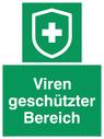 <p>Viren geschützter Bereich</p> Text: