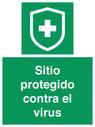 <p>Sitio protegido contra el virus</p> Text: