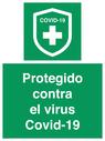 <p>Protegido contra el virus Covid-19</p> Text: