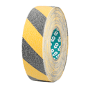 <p>Anti-slip floor tape in black / yellow 50mm x 18m</p> Text: Anti-slip floor tape in black / yellow