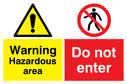 no-access-safety-sign-warning-exclaimation-symbol-in-yellowblack-and-pedestrians~