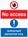 <p>No access. Authorised personnel only</p> Text: