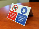 pdual-sign-free-standing-sign-with-no-handshakes-and-use-vulcan-salute-symbolsp~