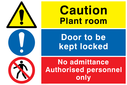 composite-safety-sign-with-general-warning-symbol-no-pedestrians-prohibiton-symb~