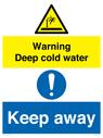 <p>Warning Deep cold water Keep away</p> Text:
