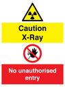 <p>Caution X-ray. No unauthorised entry</p> Text:
