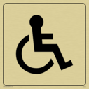 disabled toilet symbol in positive black with border Text: None