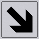 diagonal arrow only sign in positive black with border Text: None