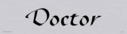 architectural--doctor-door-sign-with-brushed-metal-finish--background-text-in-po~