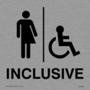 Non-gender Specific Toilet signage