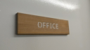 office--3-layered-sign-on-cherrynbsplaserwood-with-a-white-core-and-cherry-back~