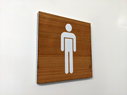 male-toilet-symbol--3-layered-sign-on-cherrynbsplaserwood-with-a-white-core-and-~
