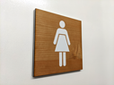 female-toilet-symbol--3-layered-sign-on-cherrynbsplaserwood-with-a-white-core-an~