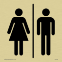 <p>male & female toilet symbols in positive black</p> Text: none