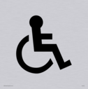 wheelchair / disabled symbol in positive black Text: none