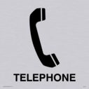 telephone symbol / sign in positive black Text: Telephone