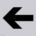 """straight arrow facing left, right, up or down sign in positive black"" Text: none"